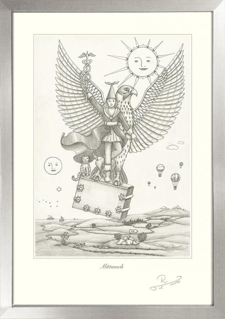 Bild mit handgemachtem Holzbilderrahmen in Silber